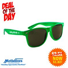 Want #style AND UV protection? The Metallic Miami Sunglasses are PERFECT for #summer #promotionalproducts #marketing #branding #beach #sunglasses #promo #summertime (#125706) http://bit.ly/SiNlbX