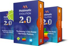 http://flashreviewz.com/mobimatic-2-0-evolution-review/ Mobimatic is A Visual Mobile App Design Platform, That Lets anyone build High-Performance, High Grade, Mobile Apps in 3 Very Easy Steps Drag, Drop and Publish. In short, Mobimatic is The Revolutionary Software to build High Perfomance Android and iOS Mobile Apps just got better faster and more badass With More Exciting New features and Power in version 2.0…