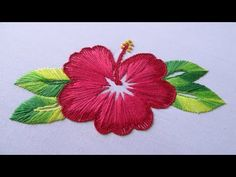 Hand Embroidery | China Rose Embroidery | Hand Embroidery Designs #18 - YouTube