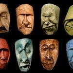 Toilet Paper Rolls Squished into Funny Faces by Junior Fritz Jacquet