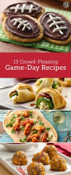From jalapeño poppers to honey-baked Sriracha wings, these 13 game-day treats will score major points with any hungry crowd.