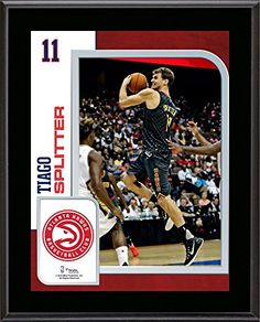 Tiago Splitter Atlanta Hawks 105 x 13 Sublimated Player Plaque  Fanatics Authentic Certified  NBA Player Plaques and Collages -- More info could be found at the image url.