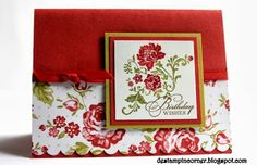 De Stampin' Corner: Roses Birthday Wishes Card