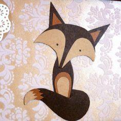 Fox Paper Art Collage