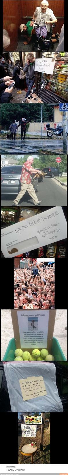 Some people are so inspirational, I wish so many more of us were like this! How sweet!