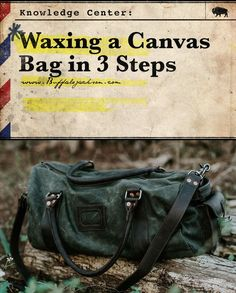 Learning how to wax canvas is fun and simple (and awesome, really). Whatever fabrics or canvases you're working with, grab your wax products and a hair dryer, then check out our DIY posts & tutorials on how to wax and waterproof your canvas bag or shoes, or give your dopp kit and travel bag a cool vintage finish.