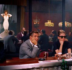 Paul Varjack (George Peppard) and Holly Golightly (Audrey Hepburn), Breakfast at Tiffany's
