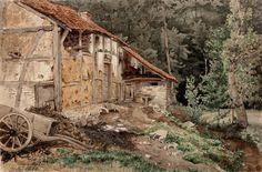 Kansallisgalleria - Taidekokoelmat - Talo metsässä
