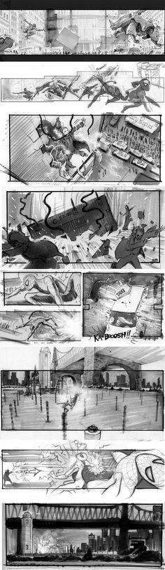 Storyboards Inc. Amazing Spiderman 2