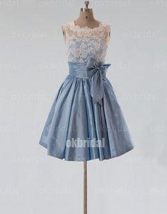 short bridesmaid dress lace bridesmaid dress cheap by okbridal