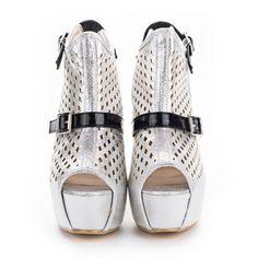 Show Story Peep Toe Bone Heel Cut Out Slingback Ankle Boot Sandal Pump, LF40604  List Price: $79.99 Now On Sale: $35.99