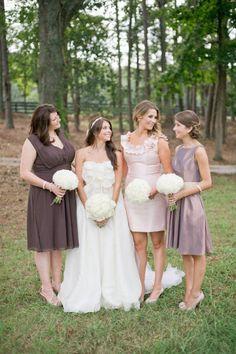 #brown #bridesmaid #dresses