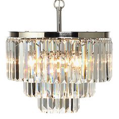 Layers your décor with a stunning glow. Luxe Crystal Chandelier, $799.00 #ZGallerie