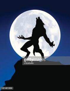 werewolf moon silhouette - Google Search