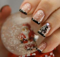 black tips with glitter