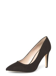 1105baedf60 Wide Fit Black  Emily  Court Shoes