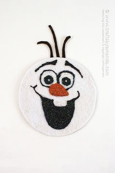 Recycled Olaf Craft- it's made from an old CD!