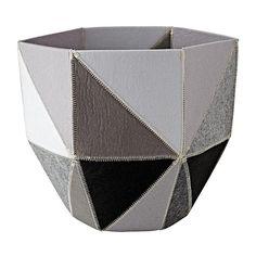 Grey Quartz Cube Bin