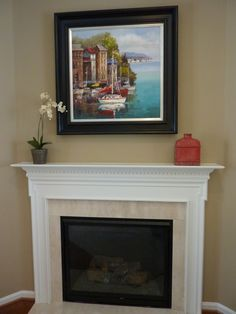 Give your old fireplace a facelift DIY tile and mantel