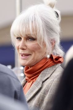 """Linda Evans, of the 80s TV show """"Dynasty,"""" makes an appearance at the Grove in Los Angeles for the taping of """"Extra."""" Evans is currently promoting her new book, """"Recipes for Life: My Memories,"""" chronicling her life and her ex-husband John Derek who left her for Bo Derek."""