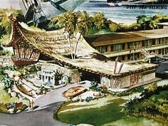 Vintage Tiki Artwork - Favorite Artist's Renderings -- Tiki Central. Palm Beach Hawaiian Motor Lodge