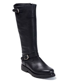 Love this Black Leather Padma Boot by UMA on #zulily! #zulilyfinds