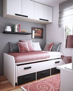 23 Efficient And Attractive Small Bedroom Designs | Architecture, Design  And Decoration | Pinterest | Small Bedroom Designs, Small Teen Room And  Bedrooms