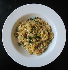 dried shrimp risotto