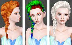 Female Hair: Surfing Side Braid Store Hair Retexture
