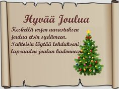 Tulostettava joulukortti-pohja ruskea Christmas Greetings, Christmas Cards, Christmas Decorations, Xmas, Christmas Ornaments, Holiday Decor, Happy Day, Gift Tags, Quilts