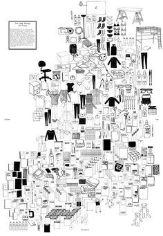 """""""The 300 Things of Tracy"""" //   A ranking of the top 300 things in my life at the time. // 18″ x 25″ Poster. 300 illustrations. // Tracy Ma"""