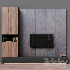 models: Other - TV Zona 3 unit Design Modern Tv Unit Designs, Wall Unit Designs, Modern Tv Wall Units, Living Room Tv Unit Designs, Tv Wall Design, Bedroom Tv Unit Design, Tv Unit Decor, Tv Wall Decor, Panneau Mural Tv