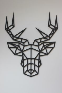 Original and Unique Large Laser cut Artwork Limited Edition Contemporary Geometric Design Stag Head by KREATIVDESIGNLTD on Etsy https://www.etsy.com/uk/listing/273193124/original-and-unique-large-laser-cut