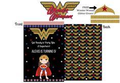 Wonder Woman Invitations, Wonder Woman Party, Wonder Woman Crown, DC Superhero Girls, Superhero Invitation, Superhero Party by WalkingMombieDesign on Etsy Superhero Invitations, Personalized Invitations, 7th Birthday, Birthday Ideas, Birthday Cards, Wonder Woman Party, Superhero Party, Decoration, Jade