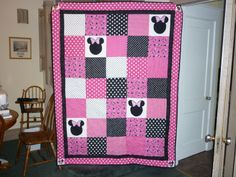 My granddaughter Stella's Minnie Mouse quilt