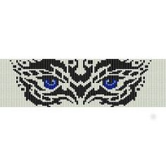 Mask  beading cuff bracelet pattern for peyote OR loom by garbanke, $4.00