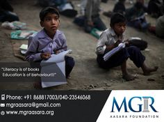 There are millions of children who are unable to go to school and get education.MGR Aasara helps such children to get education. A small donation by you can bring a child into the fold of education. For more details please contact us: Contact Details:  Phone: +91 98660 87878 040-23546068.  Email id :mgraasara@gmail.com Logonto: www.mgraasara.org  # mgr, #mgraasarafoundation, #help, #serve, #care