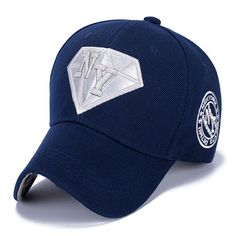 Stylish Letter Embroidery and Diamond Shape Embellished Casual Baseball Cap #shoes, #jewelry, #women, #men, #hats, #watches