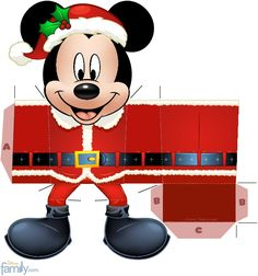 Mickey Christmas Candy Box Printable Photo 1109 | Scribd