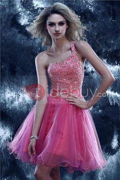 Prom élégant à shoujlder Mini-longueur Dasha / robe de bal (Livraison gratuite)