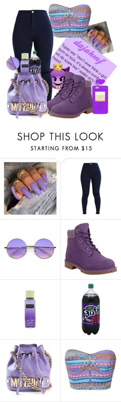 """""""snack time"""" by dajahmf ❤ liked on Polyvore featuring ZeroUV, Timberland, Victoria's Secret, Moschino and Reverse"""