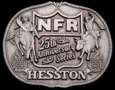1983 National Finals Rodeo Hesston *NFR* Buckle, starting at $5 in Collectibles today at 4PM PT.