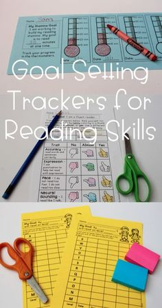 Reading goal setting printables perfect for interactive notebooks and reading response journals! Love these for fluency, comprehension, level, and more! by elvia Reading Goals, Reading Lessons, Reading Activities, Reading Skills, Teaching Reading, Reading Stamina, Reading Charts, Guided Reading, Goal Setting For Students