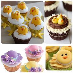 See all the Easter and Spring themed cupcakes. Recipes included (except for 1) #EasterCupcakes #Cupcakes