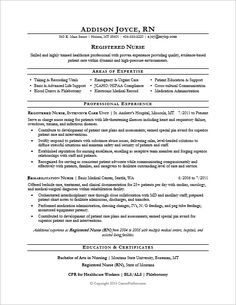 nurse resume sample - Sample Resume For Rn