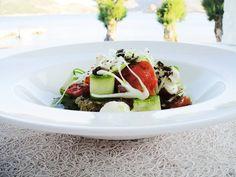 Greek salad.   Caprese Salad, Cobb Salad, Greek Salad, Restaurant, Fresh, Dishes, Food, Kitchens, Diner Restaurant