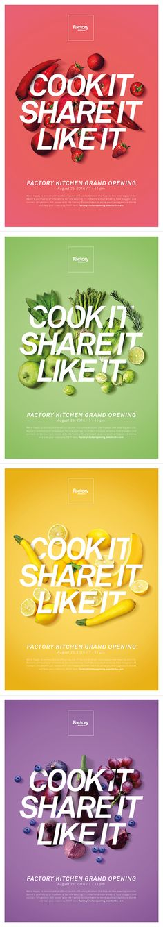 Factory Kitchen serves dishes inspired by the flavors of Latin America, mainly Peru, which is famous for its fish specialties and influences from the Spanish, Asian and African cuisine. Food Graphic Design, Ad Design, Graphic Design Illustration, Layout Design, Food Advertising, Advertising Design, Layout Inspiration, Graphic Design Inspiration, Massimo Vignelli