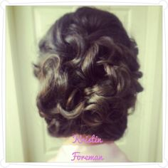 #bride #bridesmaid #wedding #updo #formal #hair @Detangled Salon stylist @Kristin Foreman