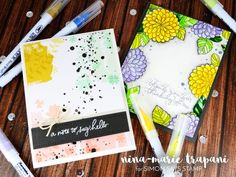 Nina-Marie is full of inspiration for the Simon Says Stamp July Card Kit!