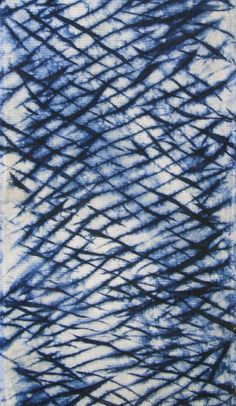 ARASHI SHIBORI TEXTURED COMMERCIAL COTTON, BOTANICAL INDIGO EARLY 20C